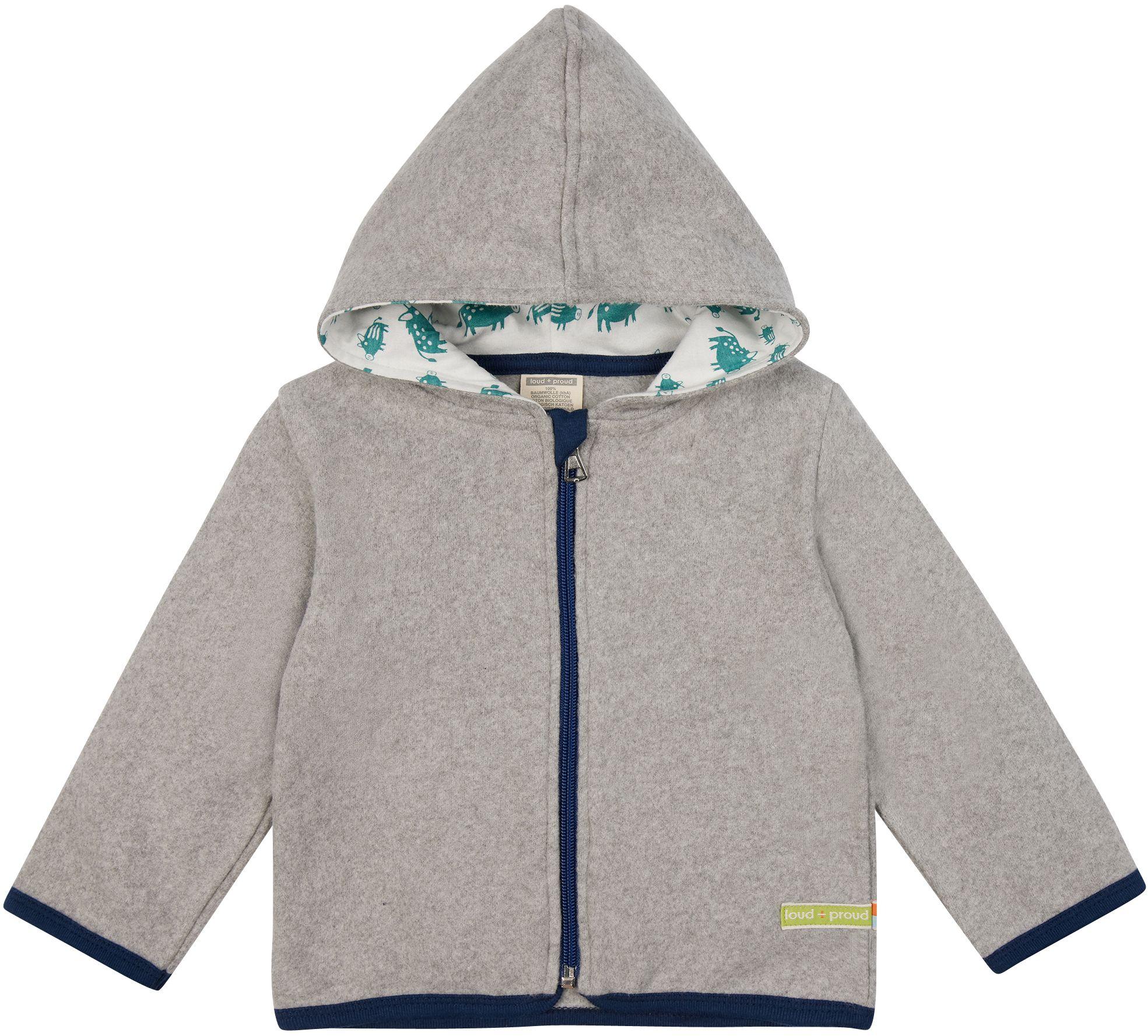 Fleece-Jacke für Kinder in Grau