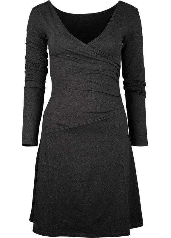 Bequemes Langarm-Kleid Party Dress in Schwarz