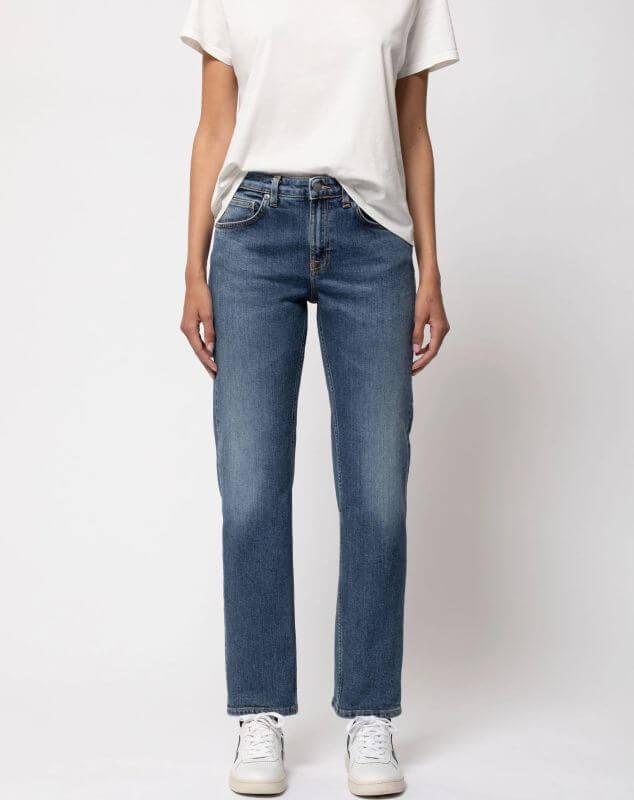 Damen-Jeans Straight Sally - Dark Stone