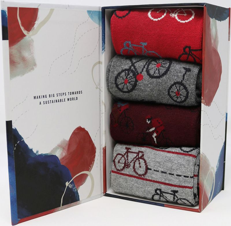 Geschenk-Box Micah Bicycle mit Herren-Socken
