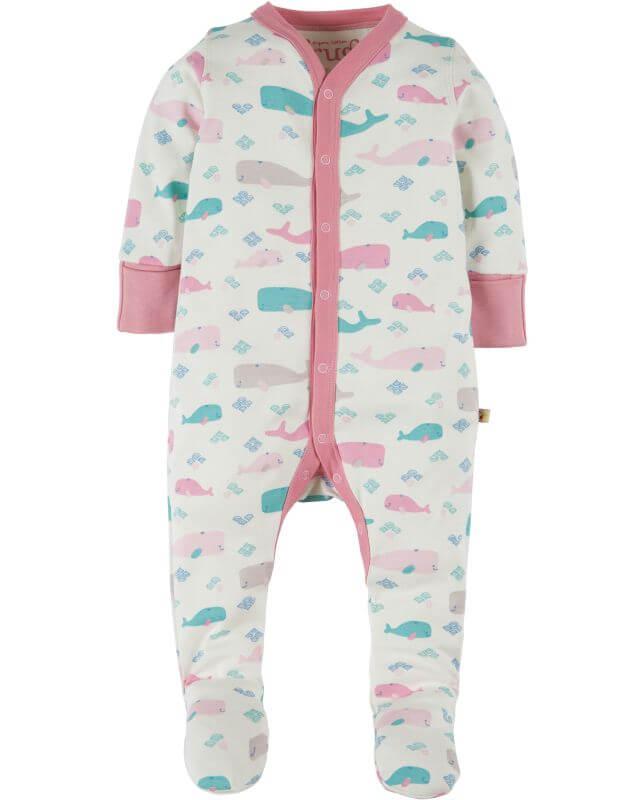 Einteiliger Schlafanzug mit süßen Walen