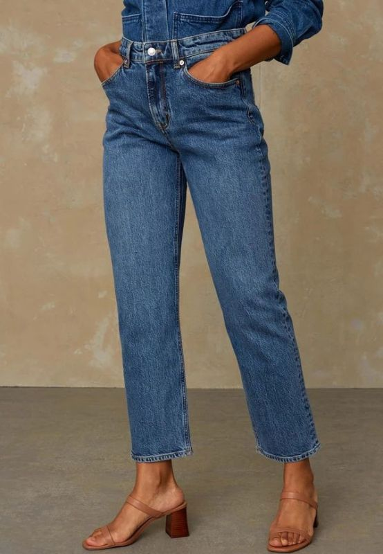 Straight-Fit Jeans CAROLINE - Eco Xavier Blue Marble