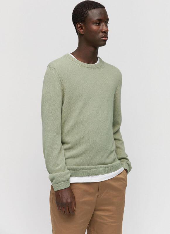 Strick-Pullover für Herren TAAMO green tea
