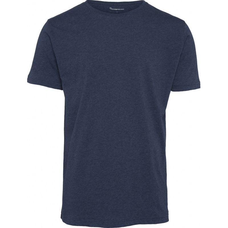 Basic T-Shirt für Herren dunkelblau meliert