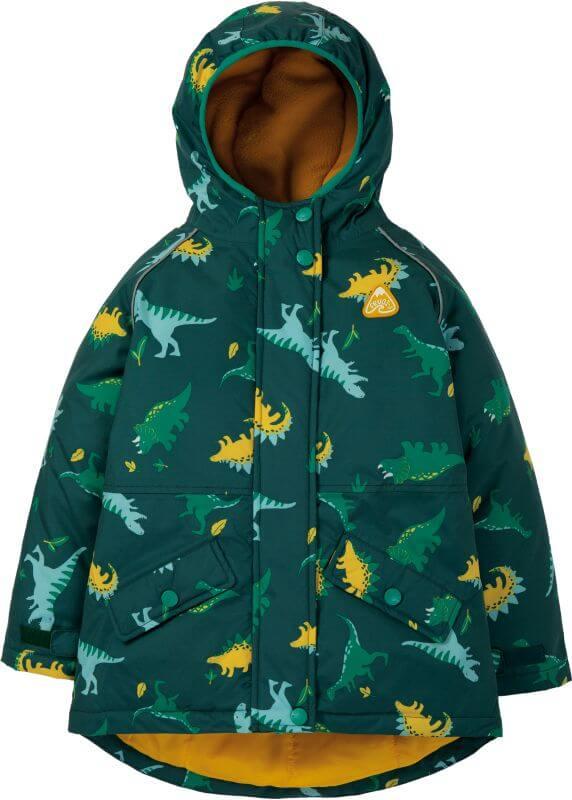Wasserdichte Jungs-Jacke mit Dinosauriern