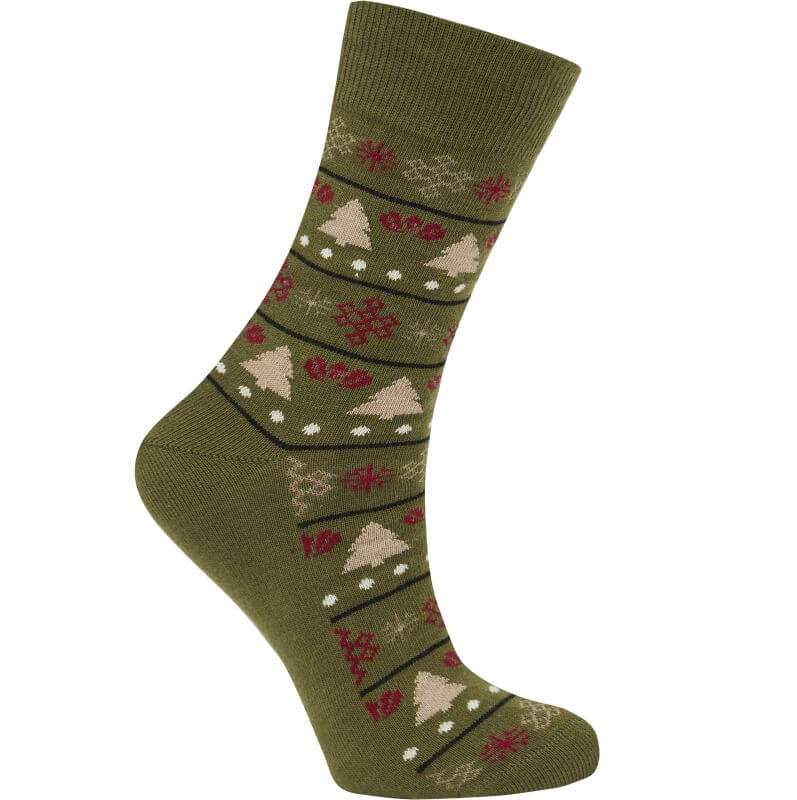 Bequeme Socken CHRISTMAS olive unisex