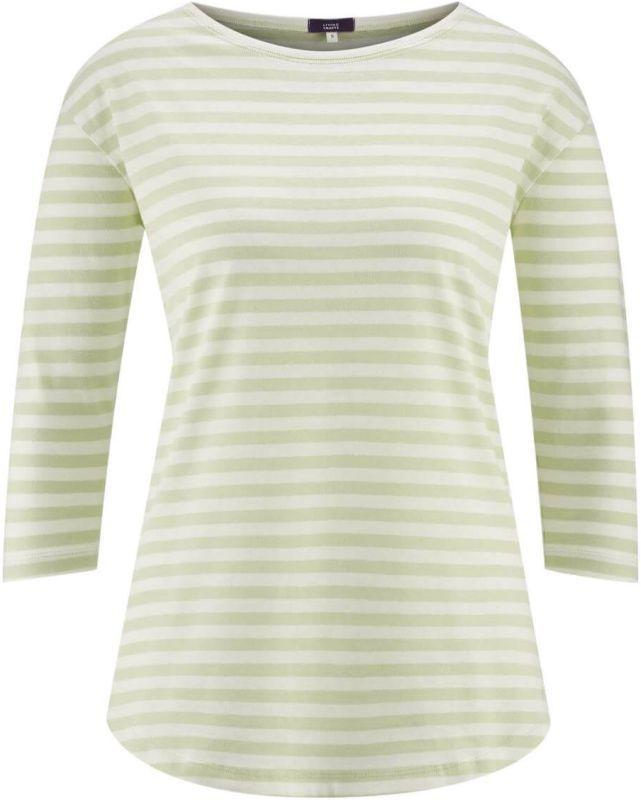 Schlaf-Shirt mit 3/4-Ärmeln milky green/white