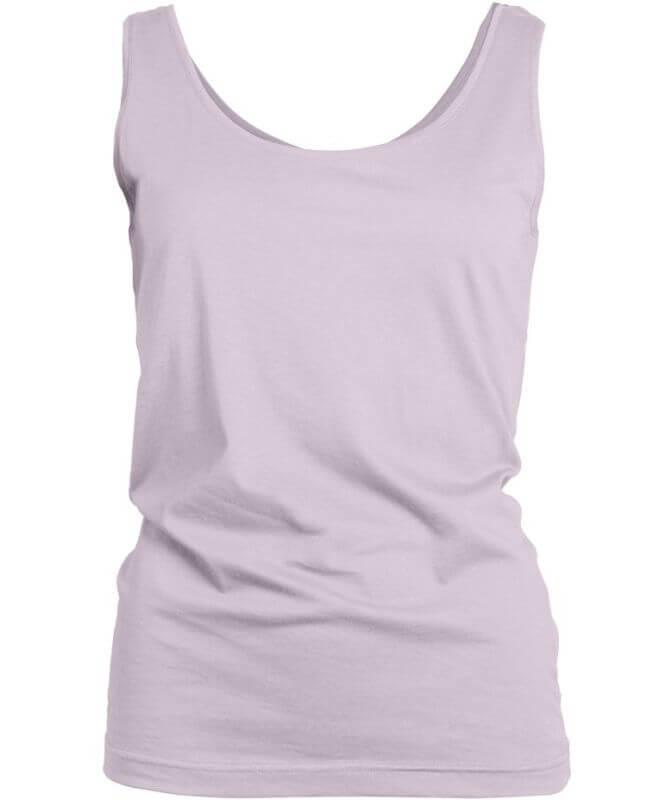 Weiches Basic Damen-Top violet ice