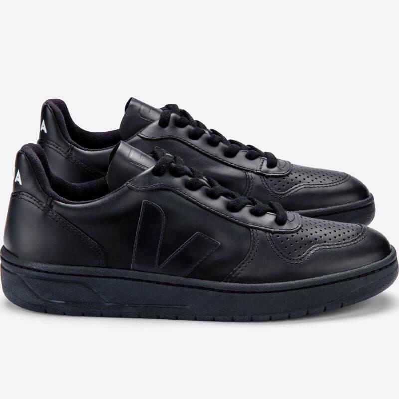 Vegane Damen-Sneaker V-10 CWL Black/Black Sole