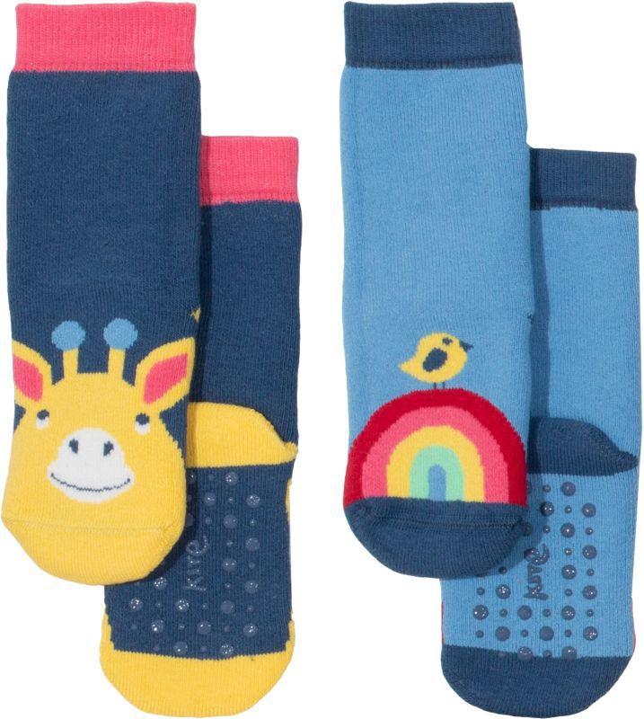 Antirutsch-Socken im Doppelpack mit Giraffe