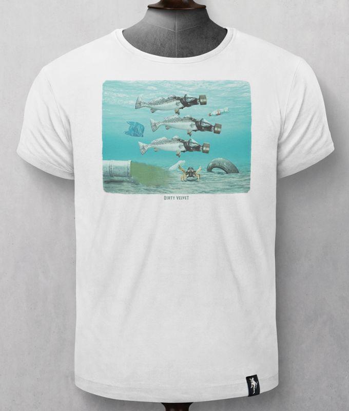 Herren-Shirt Seasick Vintage White