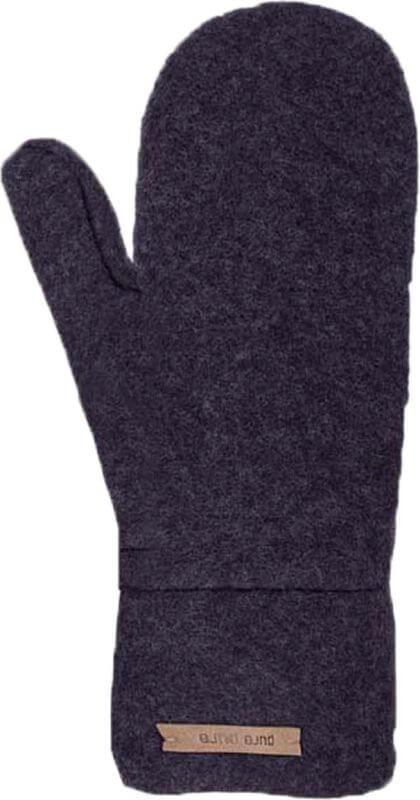 Weiche Fleece-Fäustel in Dunkelblau (100% Wolle)
