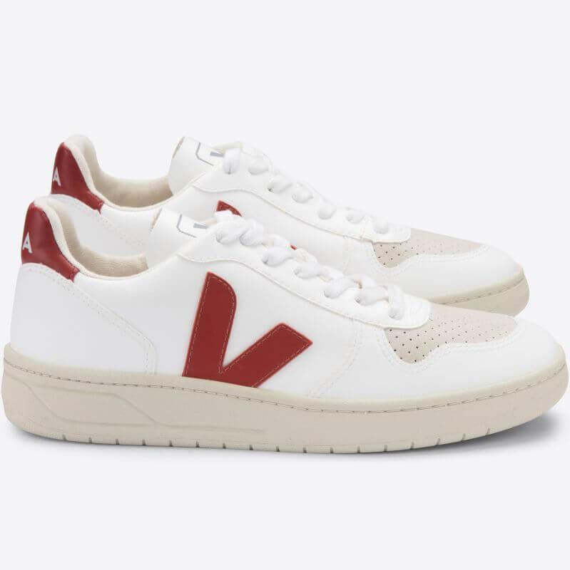 Vegane Herren-Sneaker V-10 CWL White Rouille