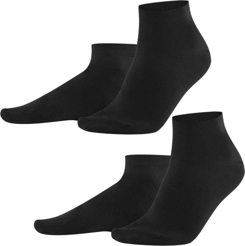 Knöchelhohe Sneaker-Socken in Schwarz