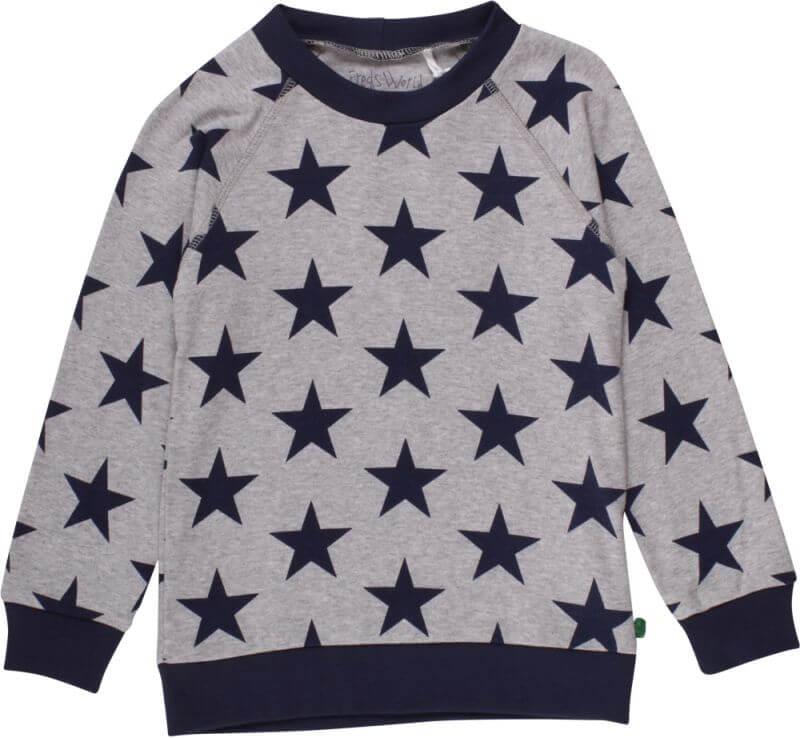 Leichter Jungs-Sweater Star in Grau
