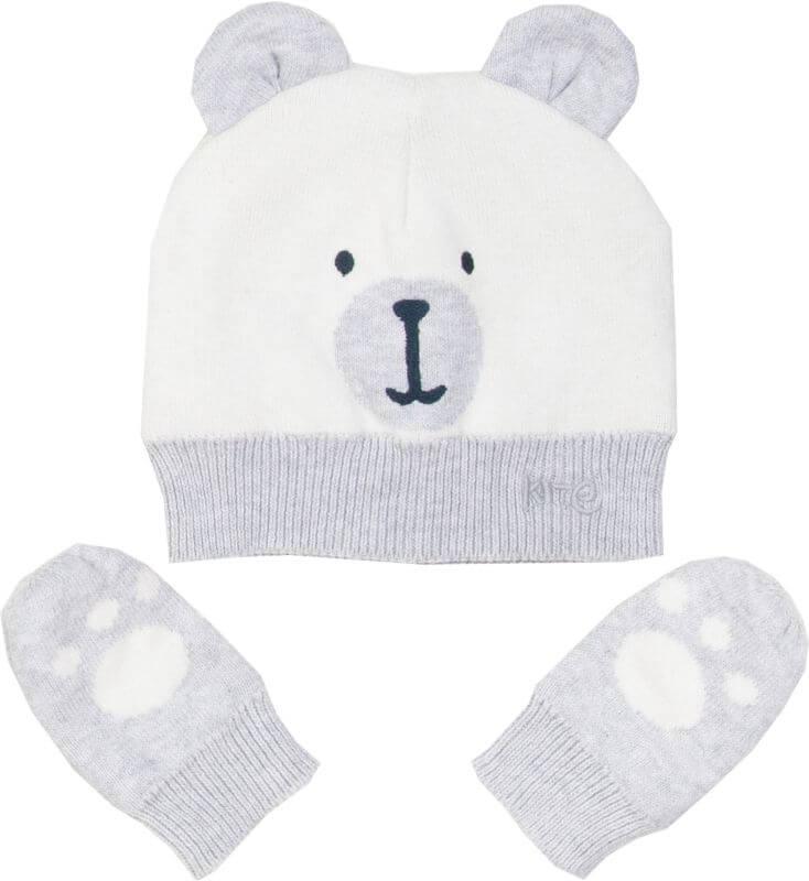 Süßes Baby-Set mit Mütze und Handschuhen