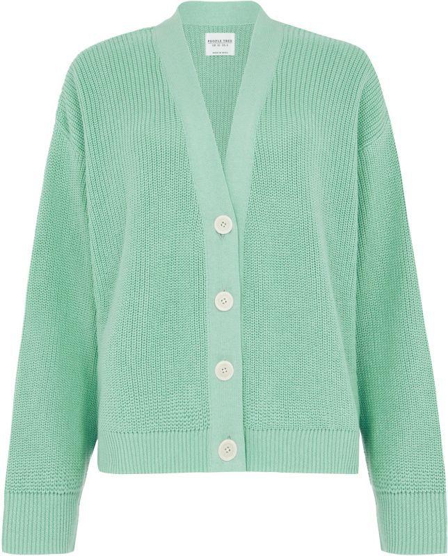 Modischer Strick-Cardigan Jasmine in Grün