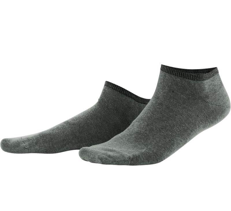 Grüne Sneaker-Socken im Doppelpack