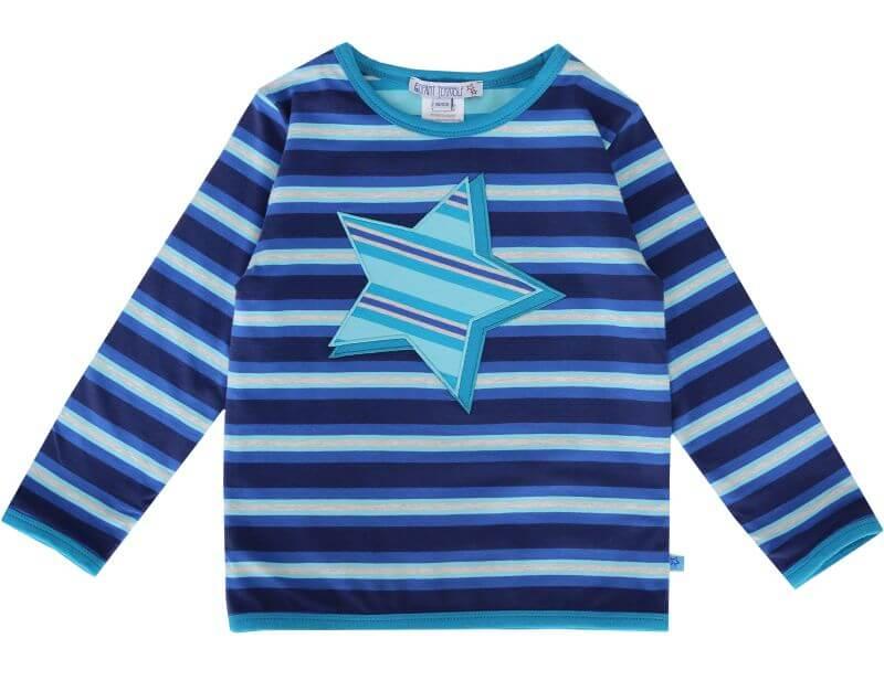 Gestreiftes Wende-Longsleeve mit Stern dark blue
