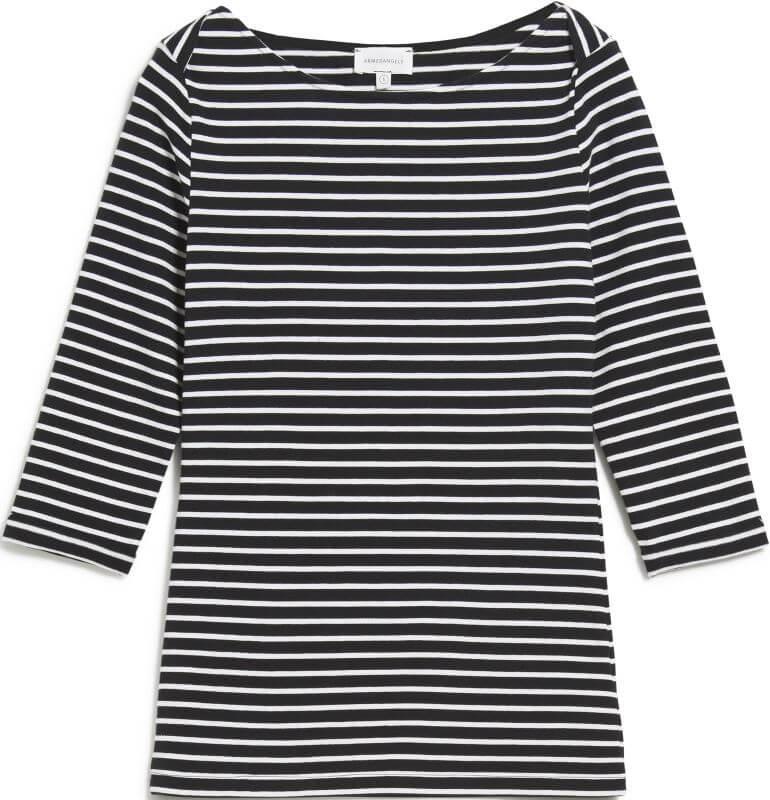 Damen-Longsleeve DALENAA STRIPES black/off white