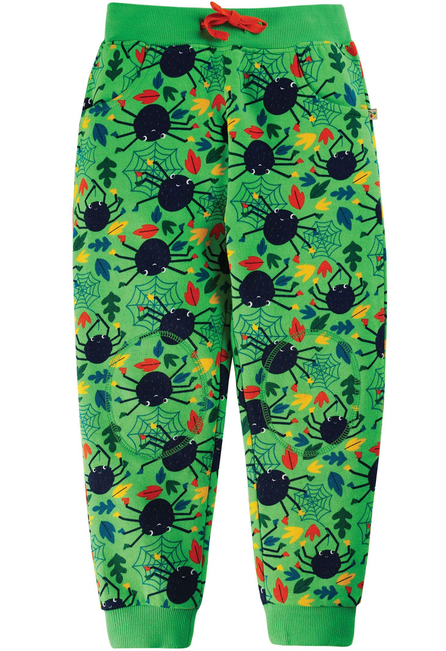 Bequeme Kinder-Hose mit Spinnen-Print