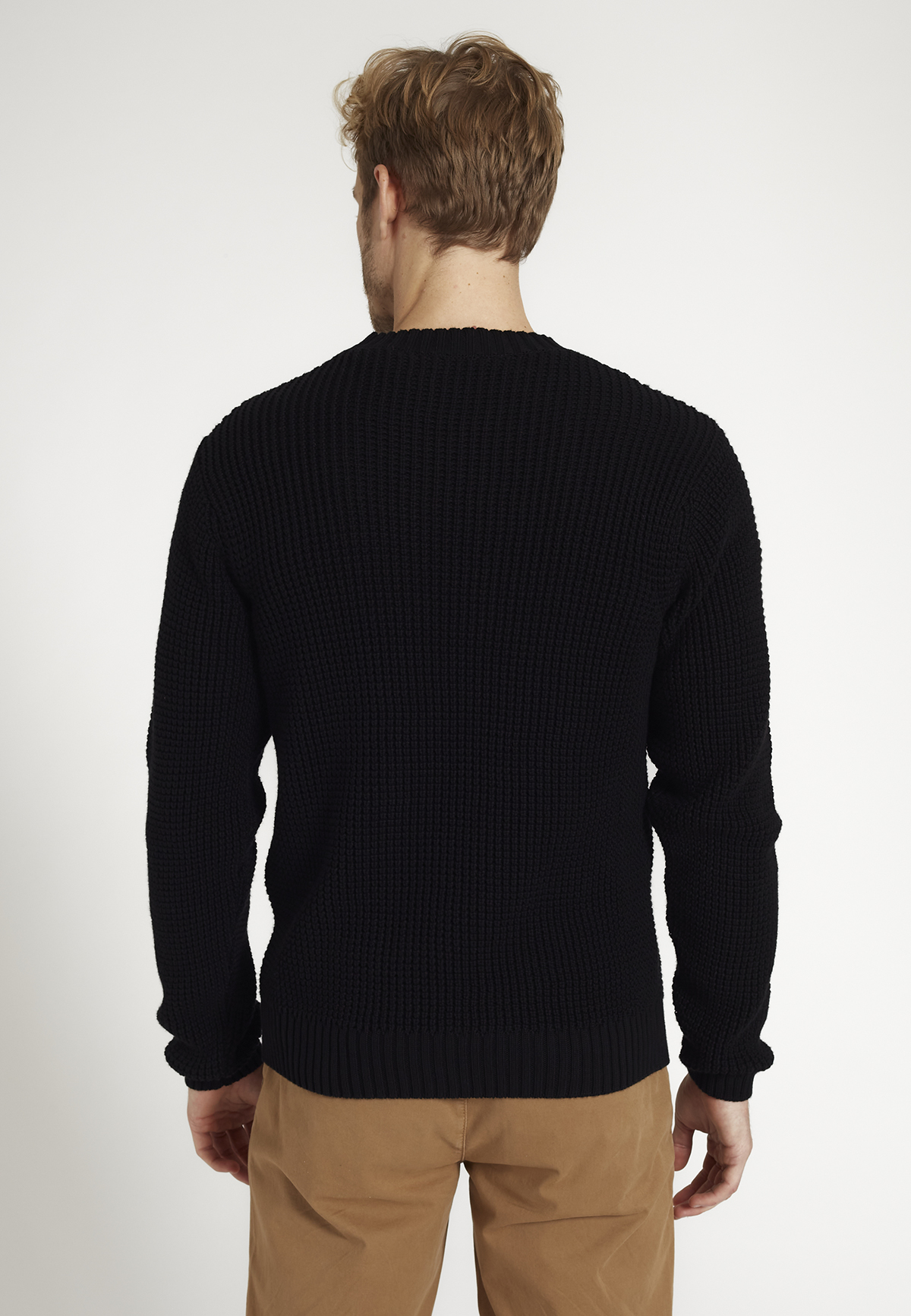 Herren-Strickpullover SAFFRON black