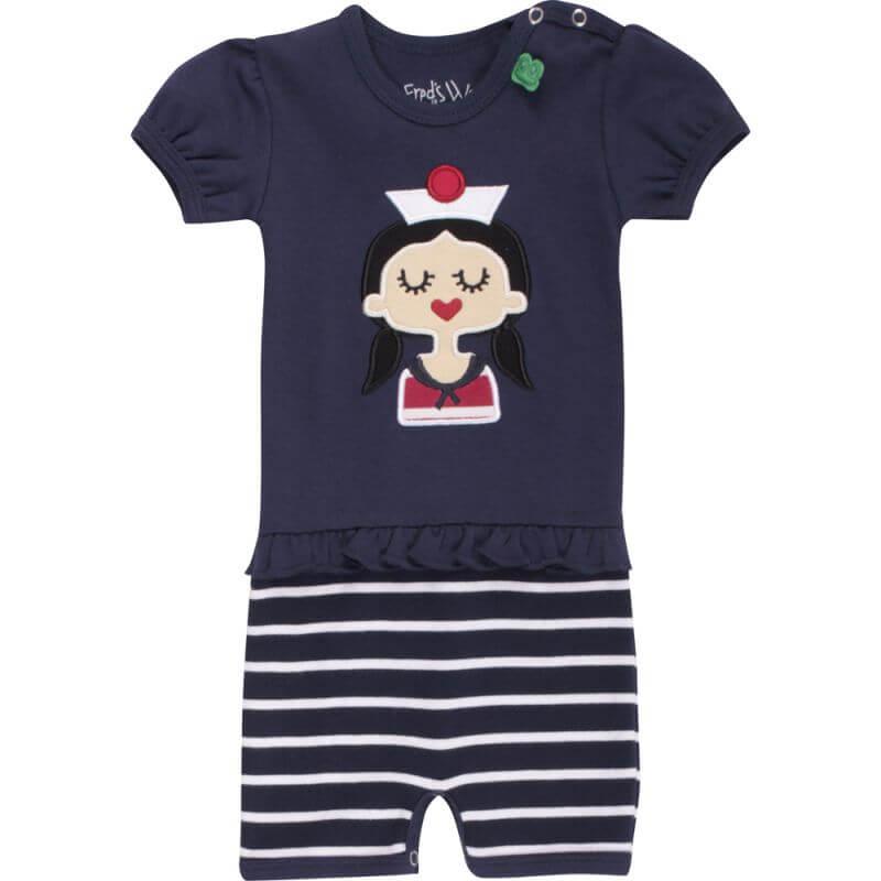 Beach Body Sailor Stripe für kleine Mädchen