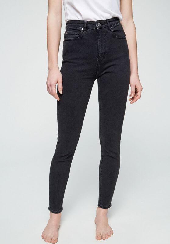 Damen-Jeans INGAA High Waist washed down black