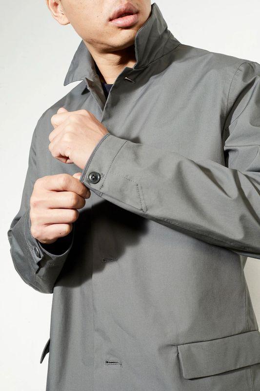 Gerader Regen-Mantel für Herren Irvine platinum