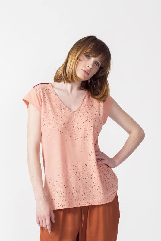 Bedrucktes Damen-Shirt IDUIA in Rosa