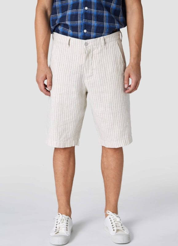 Herren-Shorts Cronus Beige Linen Stripe