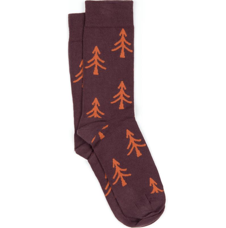 Bequeme Socken Tree in Dunkelrot