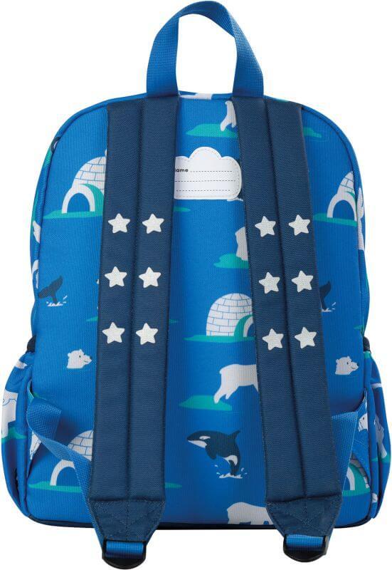 Cooler Kinder-Rucksack mit Polartieren in Blau