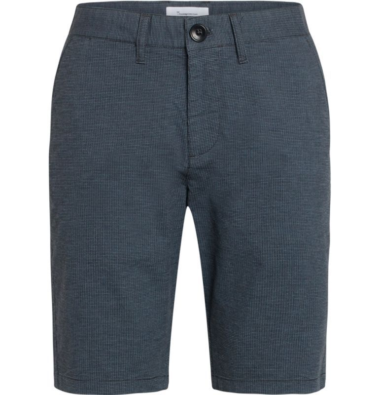 Gemusterte Chino-Shorts für Herren navy