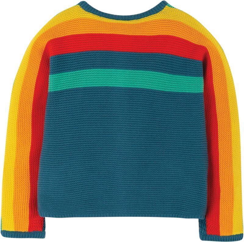 Bequeme Strickjacke mit Regenbogen