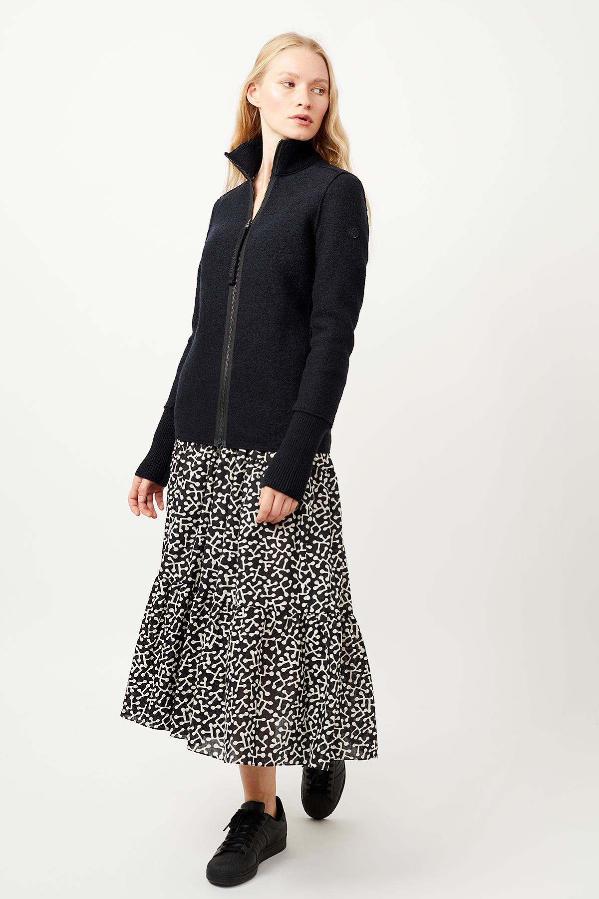 Schmale Wolljacke für Damen Crawford carbon