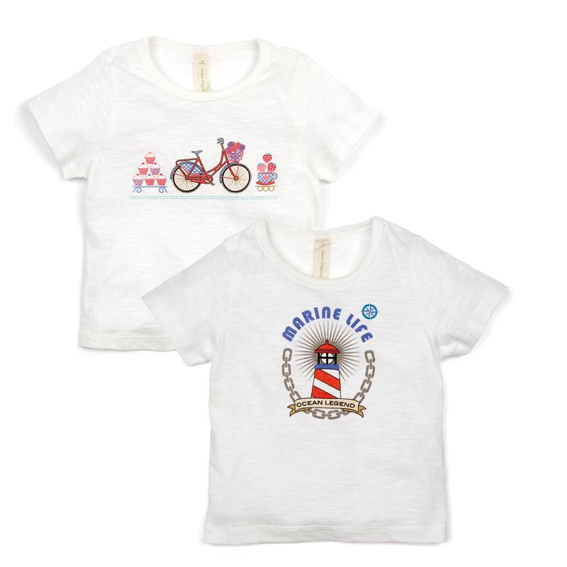 TABRISI T-Shirt mit Marine-Print weiß