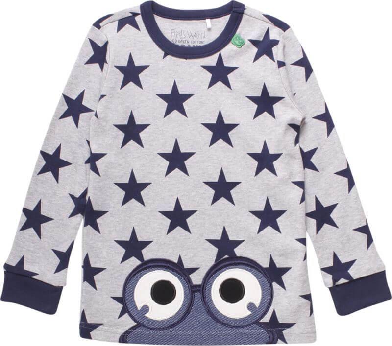 Graues Baby-Longsleeve Star peep
