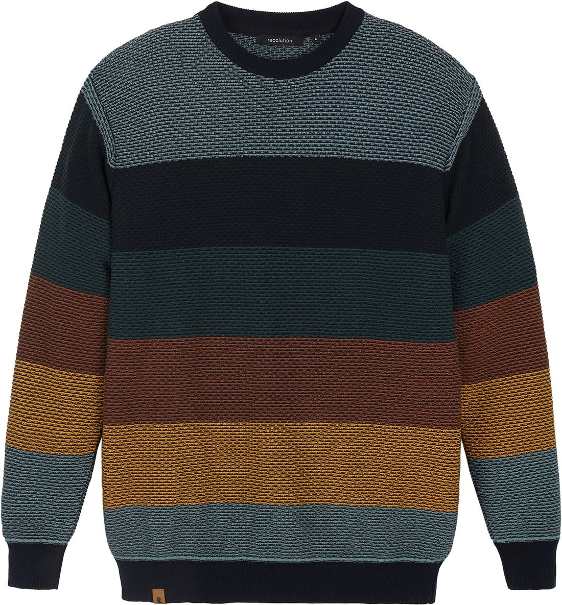Gestreifter Herren-Strickpullover THYMUS multicolored