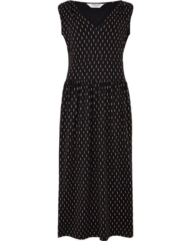 Bequemes Kleid Robyn Ikat in Schwarz