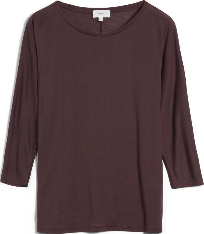 Lockeres 3/4-Arm-Shirt JAADY aubergine