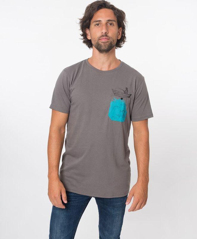 Bequemes Herren-Shirt Fischer in Grau