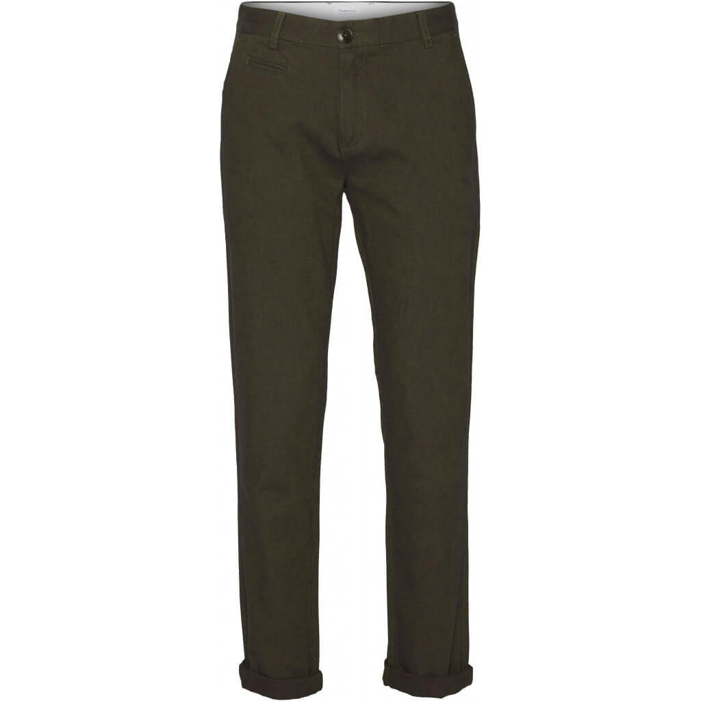 Chuck The Brain Flanell Twill Chino forrest night