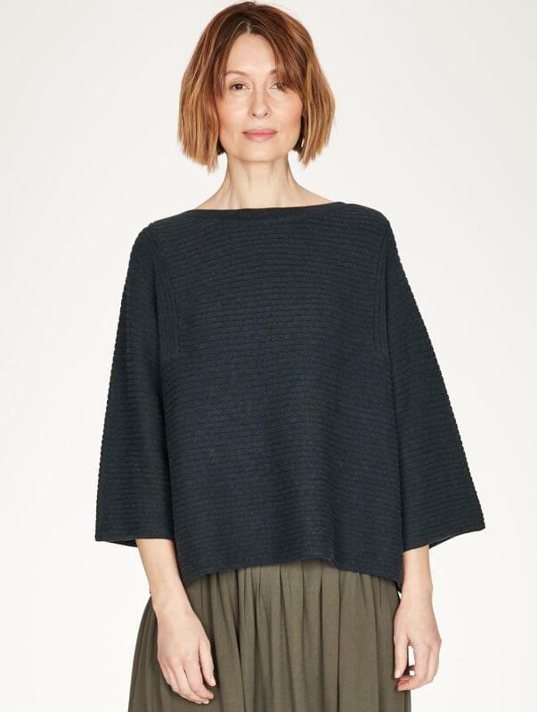 Oversized Damen-Pullover Elisha Midnight Navy
