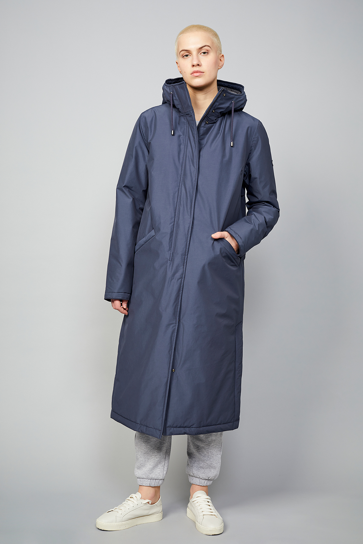 Wetterfester Damen-Mantel Milport Padded steel blue