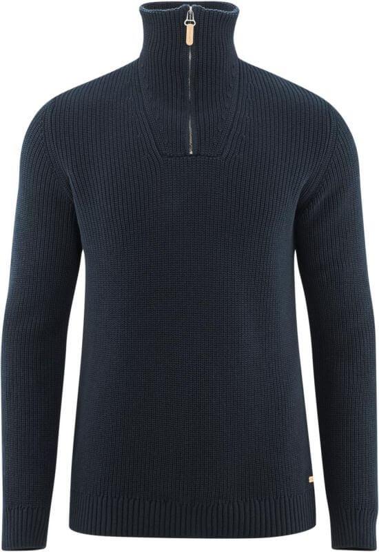 Herren-Pullover mit hohem Kragen ink blue