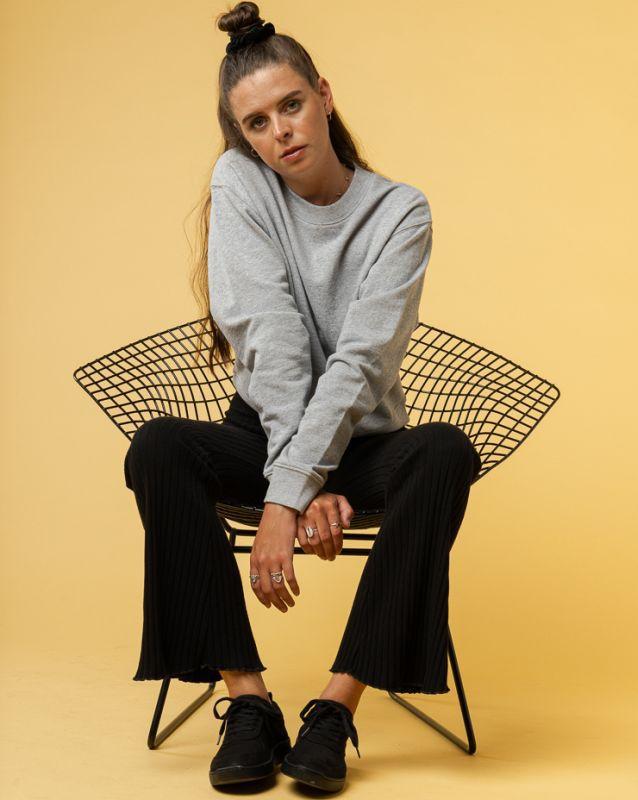 Sportliches Basic-Sweatshirt RATI in grey melange