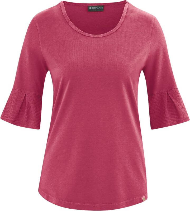 Modisches Glockenarm-Shirt in Rot