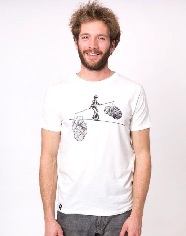 Bequemes Herren-Shirt Balance in Weiß