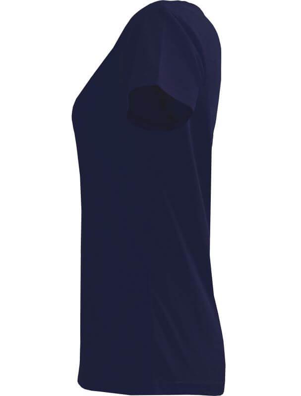 Dunkelblaues Basic T-Shirt für Damen